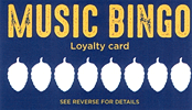 Music Bingo Loyalty Card